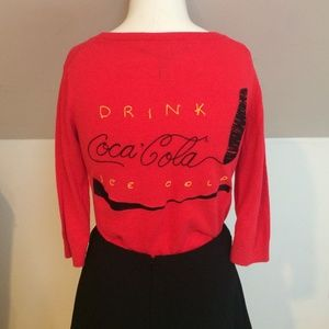 Sweaters - Vintage Style Embroidered Coca Cola Sweater